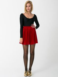 Gifts for... The Party Girl! The Stretch Velvet Skirt by #AmericanApparel #PartyGirl #GiftGuide