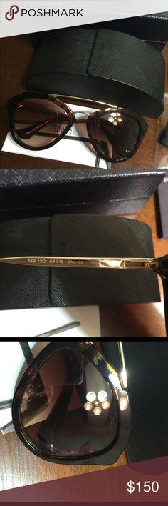 Prada Sunglasses Prada Sunglasses. Almost New !  Only Try it, doesn't use. 100%UV400 protective. Made in Italy.  Includes: Prada Sunglasses Box, brochure, cloth & Care. Prada Accessories Sunglasses