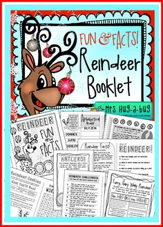 Jingle, jingle, click! CLICK??! Did you know that reindeer make a clicking noise when they walk? It's caused by a tendon that rubs over a bone in their ankles!  This 'Fun and Facts Reindeer booklet' pack contains 10 pages of Reindeer themed activities which can be assembled into a little 20 page booklet full of fact based learning AND fun activities...