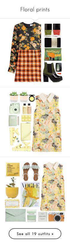 """Floral prints"" by tawnee-tnt ❤ liked on Polyvore featuring MSGM, Miista, Butter London, Charlotte Olympia, Falke, BeYu, nailart, polyvorecontest, nailedit and Hostess"