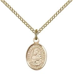 "14kt Gold Filled Our Lady of Prompt Succor Pendant with 18"" Gold Filled Lite Curb Chain. Patron Saint of New Orleans, LA *** Check this awesome product by going to the link at the image."