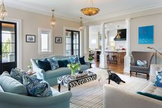 Interior design by Danielle Monteverdi in NY // A design team takes an old Victorian home in Larchmont and creates a new mix  of classic and modern style a family can love and live in.
