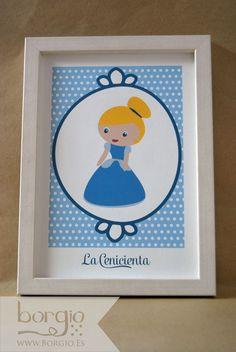 """La Cenicienta, de la colección """"Kawaii Princess"""" Disponible en: http://www.borgio.es/laminas-infantiles/"""