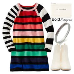 """""""Anastazio-bold stripes @polyvore @polyvore-editorial #luxury #unique #bold #stripes"""" by anastazio-kotsopoulos ❤ liked on Polyvore featuring Isabel Marant and Balenciaga"""