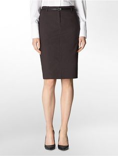 Calvin Klein Womens Black Pinstripe Belted Pencil Suit   Skirt  Price : 79.00$ Sale Off Price: 42.93$