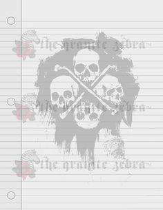 Dancing Skeleton Note Cards Stationary Sugar Skull