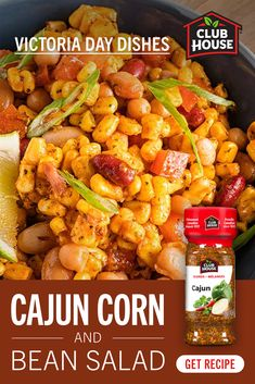 Heart Healthy Recipes, Healthy Salad Recipes, Veggie Recipes, Cooking Recipes, Cambells Recipes, Corn And Bean Salad, Clean Granite, Clean Eating Salads, Steak Sandwiches
