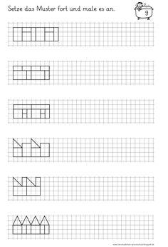 Lernstübchen: Muster fortsetzen und anmalen (3) | Desarrollar ...
