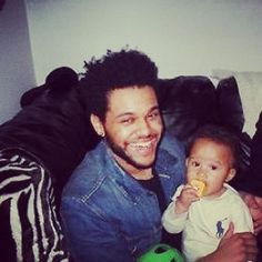 """baby boy"" From Abel's Instagram  Is that his son??"