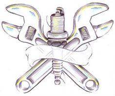 Wrench Tattoo Design Idea Design