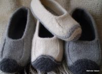 19-row felted slippers. Free pattern. (This is not a spam link).   Duffers - revisited