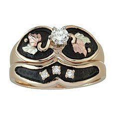 Amazon.com: Black Hills Gold Womens Bridal Set with Engagement Ring & Wedding Ring: Jewelry