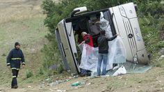 Δημιουργία - Επικοινωνία: Σέρρες : Ανατράπηκε λεωφορείο με μαθητές δημοτικού...