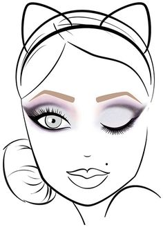 Radiant Orchid--Cat Eyes Shadow Palette--1⃣Apply Panther in the crease and lower lash line.2⃣Blend Jungle Love upward above cut crease and below lash line. 3⃣Sweep Pussy Cat over Jungle Love and shade to inner lid. Do the same on bottom lash line. 4⃣Press Kitten onto the brow bone. 5⃣Apply Kitten Glitter all over lid and along the lower inner lash line. Apply to tear ducts for added highlight.