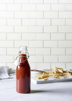 This homemade natural vegan ketchup from The Blender Girl cookbook is super easy and seriously delicious.