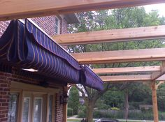 The Owners Of This Home In Toronto Wanted To Cover Half Their Deck With Side By Retractable Awnings Protect From Sun