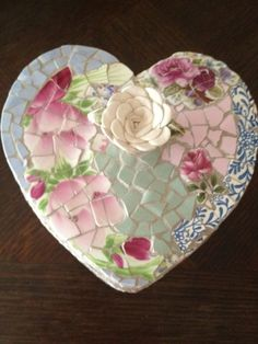 Heart Shaped Mosaic Box So Beautiful | eBay
