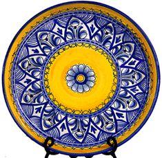 Handmade ceramic platter from Spain