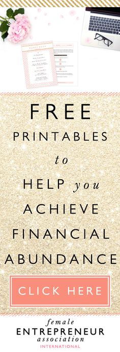 3 things to try to overcome money blocks & attract more financial abundance + FREE PRINTABLES
