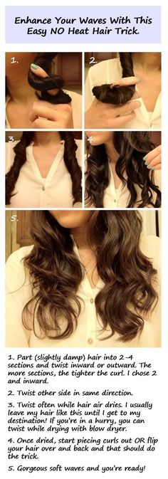 Easy hair waves