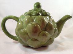 Decorative Artichoke Ceramic Teapot