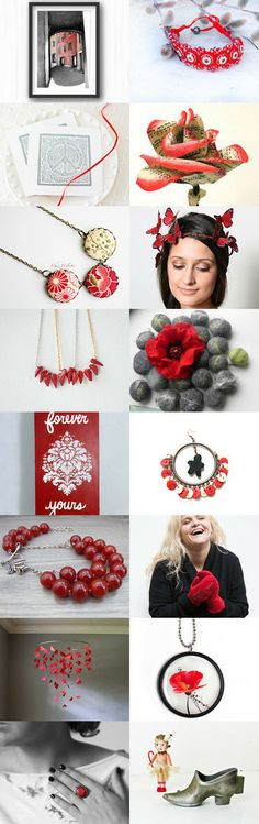 Red gifts by Luba Makarenko on Etsy--Pinned with TreasuryPin.com