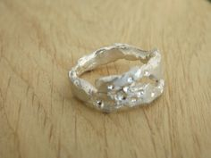Molten silver ring - Elelta