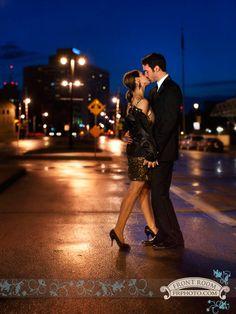 Experience Engagement – Gina & Jeff! » Milwaukee Wedding Photography – Front Room Photography Milwaukee Photographer- late night engagement - city lights - urban - rainy night photography - kiss- passion- save the date - glamour - elegant - engaged