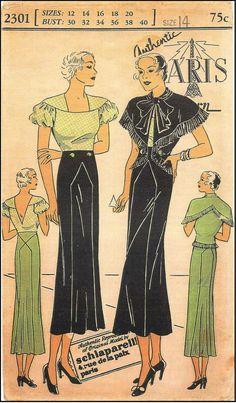 Authentic Paris Pattern 2301 (1930s) by Schiaparelli