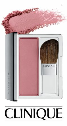 A cheeky blush for Valentine's Day—Clnique Blushing Blush Powder Blush in Smoldering Plum.