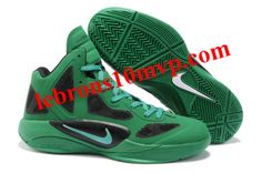 buy popular baaa3 e9a0f Nike Zoom Hyperfuse 2011 Shoes Lucky Green Black White