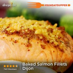 """Baked Salmon Fillets Dijon 