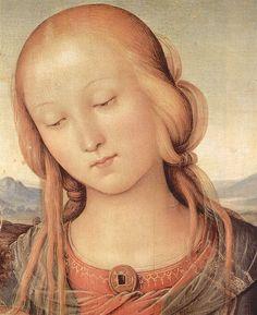 Pietro Perugino - Detail, Madonna