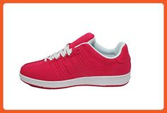 "K-Swiss Women's ""Classic VN"" Leather Athletic Shoes (Raspberry/White), 6M US - Sneakers for women (*Amazon Partner-Link)"
