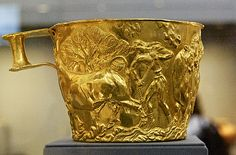 Bronze age Etruscan  golden cup C.1400BC