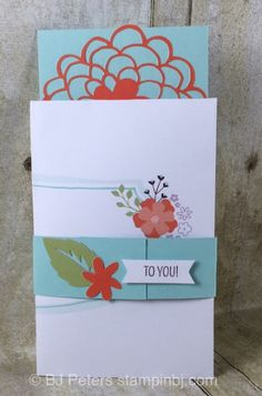 Paper Pumpkin, Hello Sunshine, February 2016, Stampin' Up!, BJ Peters, Gift Card Holder