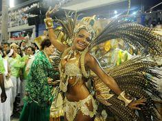 Quitéria Chagas, rainha de bateria do Império Serrano (Foto: Alexandre Durão / G1)