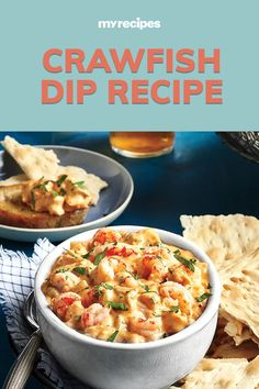 Crawfish Dip, Crawfish Recipes, Cajun Recipes, Dip Recipes, Seafood Recipes, Appetizer Recipes, Party Appetizers, Cooking Recipes, Cajun Food
