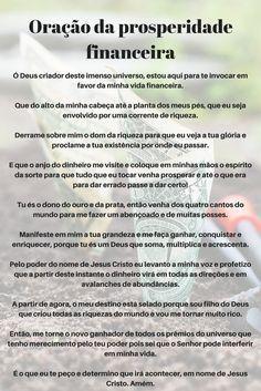 #Oração da prosperidade financeira Secret Quotes, Zen, Just Believe, English Study, Quotes About God, Law Of Attraction, Reiki, Spelling, Prayers