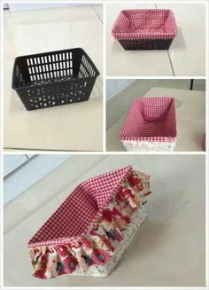 Decorated storage basket