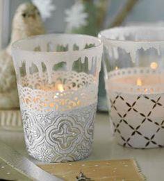 porta candela bicchiere plastica