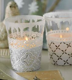 Ruki Duki: Cristmas Craft Ideas: Snow Lanterns