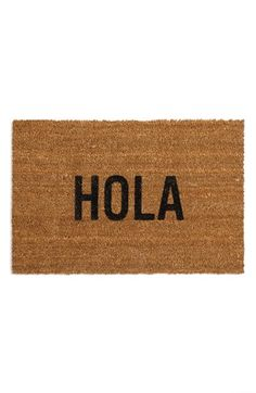 Reed Wilson Design 'Hola' Doormat available at #Nordstrom