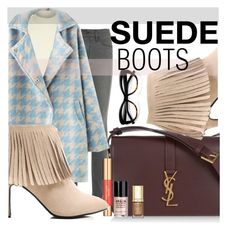 """Suede Boots - Pastel Boho Fall 2015 - GrabMyLook"" by grabmylook ❤ liked on Polyvore featuring Yves Saint Laurent, Kate Spade, Frame Denim, River Island, Stila, Estée Lauder and Dolce&Gabbana"