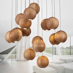 Massief houten kroonluchter moderne Chinese Japanse Nordic creatieve minimalistische woonkamer eetkamer drie single-hoofd hout houten lamp