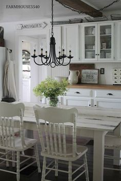 Farmhouse Kitchen On a Summers Day