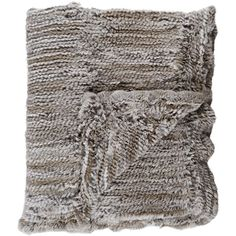 Barneys New York Fur Throw ($1,995) ❤ liked on Polyvore featuring home, bed & bath, bedding, blankets, home decor, filler, throw blankets, grey, woven throw and fur bedding