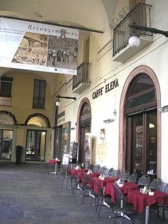 The old cafeteria Elena, Piazza Vitttorio Veneto, Torino