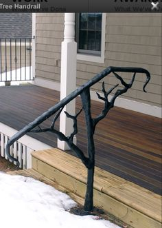 Iron Rail Tree. Porch Step RailingPorch HandrailsExterior Stair ...