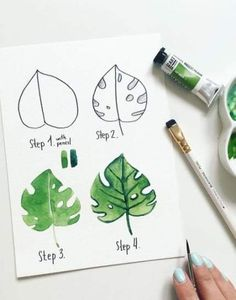 Tracing pictures for beginners and advanced - # beginners . - Sulu boya - Tracing pictures for beginners and advanced – # beginners … – Tracing pictures for - Watercolour Tutorials, Watercolour Painting, Painting & Drawing, Leaf Drawing, Watercolor Water, Drawing Flowers, How To Watercolor, Gauche Painting, Watercolour Drawings